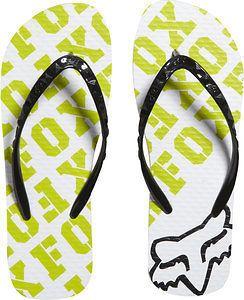 New Fox Racing Womens Juniors Speed Flip Flop Kiwi Green White Black