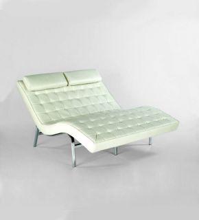 CARMELITA DUO Chaise Lounge Chair Black or White