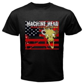 New MACHINE HEAD Heavy Metal Rock Band Music Mens Black T Shirt Size S