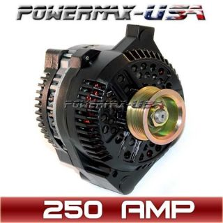 Ford MUSTANG one wire black alternator 1 Wire High Output 250Amp