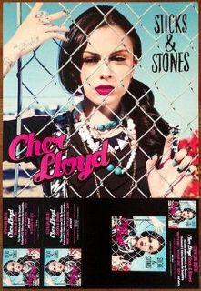 CHER LLOYD Sticks & Stones Ltd Ed 2012 Poster +FREE Pop/Hip Hop Poster