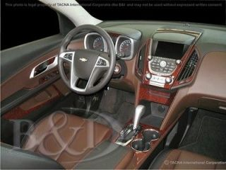 CHEVY EQUINOX WOOD GRAIN DASH KIT INCLUDES 33 PIECES FITS 2010 2013