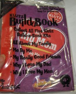 Chick fil A Kids Meal Toy Klutz Build a Book Why I Love my Mom By Me