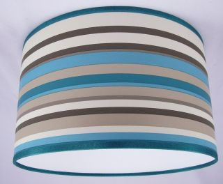 14 Lampshade Handmade in UK   Arthouse Sophia Teal Wallpaper