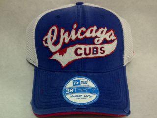 CHICAGO CUBS MESH TRUCKER 39THIRTY FLEX FIT CAP