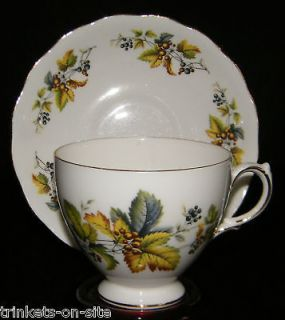 Queen Anne Fine Bone China Cup & Saucer BERRIES #8224