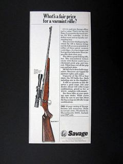 Savage Model 340 V Varmint Rifle 1968 print Ad advertisement