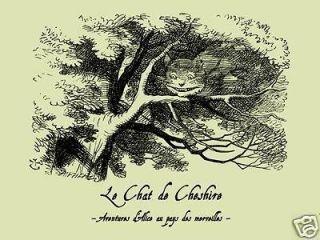 Cheshire Cat French Alice in Wonderland T Shirt