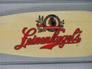 LEINENKUGEL WOODEN CANOE PADDLE BEER SIGN   PREMIUM QUALITY