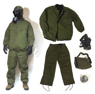 Chemical Suit, SM74 Gas Mask, NATO Filter & Bag   Military