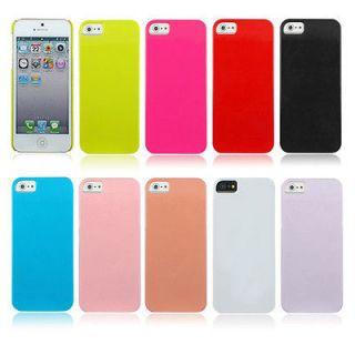 Plastic Plain Hard Case Cover Back Skin for Apple iPhone 5