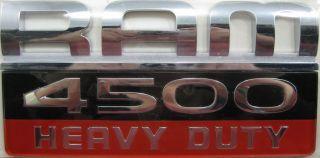 2007 2010 Chrysler Mopar Dodge Ram 4500 Heavy Duty Badge Emblem Decal