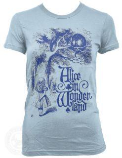 CHESHIRE CAT Vintage Alice in Wonderland on American Apparel Ladies