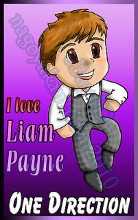 love Liam Payne One Direction Chibi style cute Decal sticker