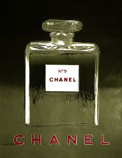 Advertising Poster/Print   Chanel Perfume   Black and Gray   17x22