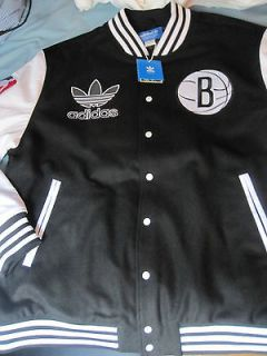 NETS BASKETBALL ADIDAS WOOL VARSITY JACKET BOMBER 2XL DERON WILLIAMS
