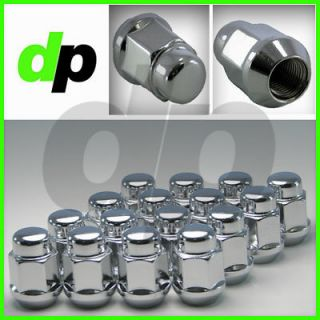 Chrome Closed End Bulge Acorn Wheel/Lug Nuts, Cone Seat, 19mm Hex, Qty