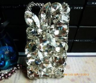 3D Clear Luxury Bling Crystal Charms Rhinestone For iPhone 4 4S Case