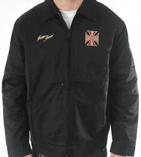 WEST COAST CHOPPERS MENS JACKET WCC GENUINE BLACK JACKET FOR BIKERS