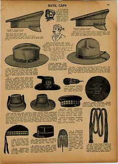 1927 AD Military Hats Caps US Army Civil War South African Campaign