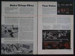 Voice & Sound Activated Operated Switch 1950 How To build PLANS Tube