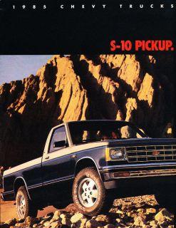 1985 Chevrolet S 10 Pickup Truck S10 CDN Sales Brochure