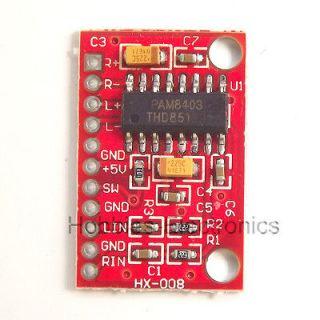 Channels 3W PAM8403 Class D Audio Amplifier Board 5V USB Power