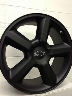 Matte Black Chevrolet LTZ Silverado Tahoe Suburban Wheels 22x10 6x5.5