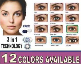 BEST QUALITY NATURAL LOOK COLOR CONTACT LENSES/FREE CONTACT CASE