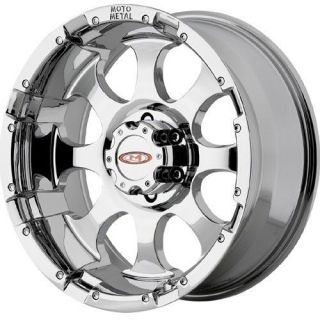 16 inch Moto Metal 955 chrome wheels rims 8x6.5 8x165.1