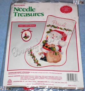 crewel embroidery christmas stocking kits