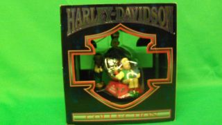 Collectable 1997 Harley Davidson Christmas Ornament. Horn Testing Area