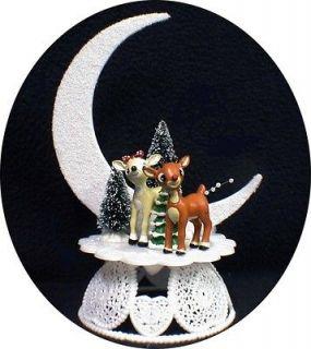 RUDOLPH REINDEER CLARICE Wedding Cake topper Winter #2