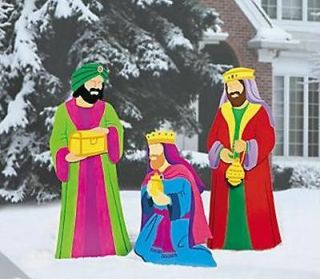 Kings Nativity Scene Metal Outdoor Christmas Yard Decorations ~NEW