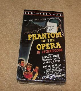 NEW & SEALED VHS The Phantom of the Opera COLOR Includes Theatrical