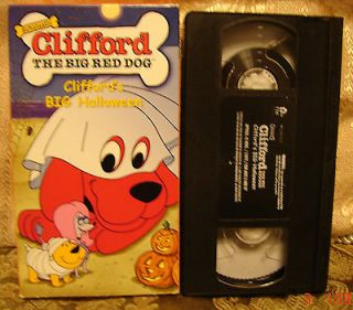 Cliffords Big Halloween Vhs Video EXC COND The Big Red Dog 4 Stories