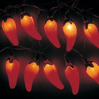 8ft Red Hot Chili Pepper Lights Cinco De Mayo Fiesta Mexican Decor