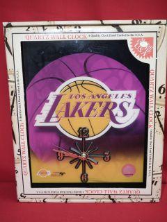 Los Angeles Lakers Basketball Wall Clock
