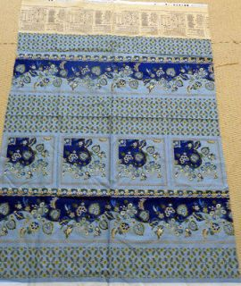 CLOSEOUT Blue FRENCH PROVENCE ALSACE Benartex Quilt Tablecloth Panel