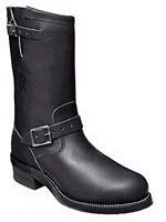 Chippewa Men 11 Steel Toe Motorcycle Black Leather Engineer Boot