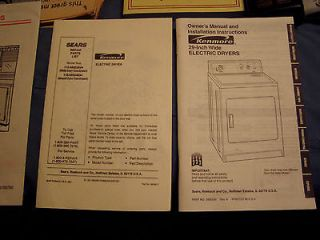 inch wide electric dryer,owners manual,parts,clothes dryer,appliance