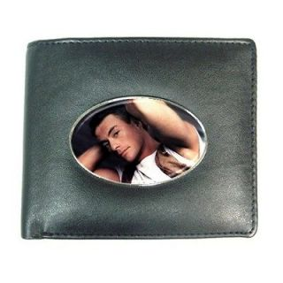Jean Claude Van Damme Mens Leather Wallet Credit Card Holder Black