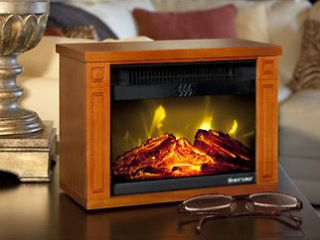 Heat Surge Electric Fireplace Amish Made (Dark OAK ONLY)