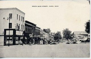 VINTAGE POSTCARD CADIZ OHIO MAIN STREET SCENE DOWNTOWN