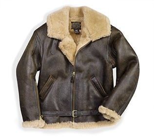 COCKPIT AVIREX R.A.F. IRVIN SHEEPSKIN FLIGHT JACKET SZ 46 FREE SHIP