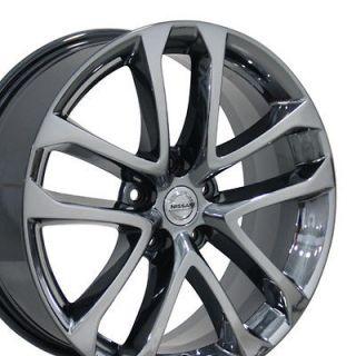 18 Black Chrome Nissan Altima 62521 Wheels Set of 4 OEM Rims