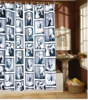 Waterproof Marilyn Monroe Shower Curtain with 12 hooks (180*180 cm