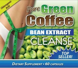 Bottle Pure GREEN COFFEE BEAN EXTRACT CLEANSE 800MG Top Seller with