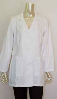 Dickies Lab Coat White 33 inches Long 3 pocket Womens LabCoat