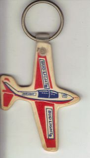 Newly listed Vintage Bud Light Airplane Key Ring.